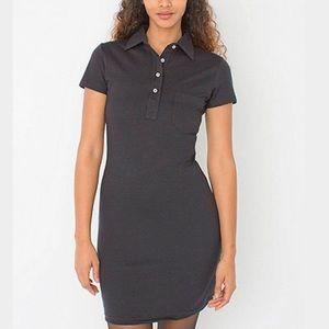 American Apparel Polo Dress Body-Con Gray XS